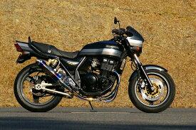 MotoGear モトギア フルエキゾーストマフラー 手曲げフルエキゾーストシステム特別仕様 サイレンサーレス タイプ:バックステップ付き(カラー:シルバー) ZRX400