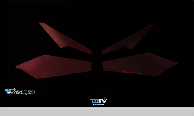 Dimotiv ディモーティヴ その他灯火類 ヘッドライトプロテクター(Headlight Protector) COLOR:FLUORESCENT RED CBR250RR 17-18