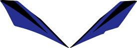 【在庫あり】MDF エムディーエフ ステッカー・デカール グラフィックキット アンダーカバーパーツ カラー:ブルー XMAX 2018-