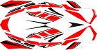 MDFエムディーエフステッカー・デカールグラフィックキットコンプリートセットカラー:レッドXMAX2018-