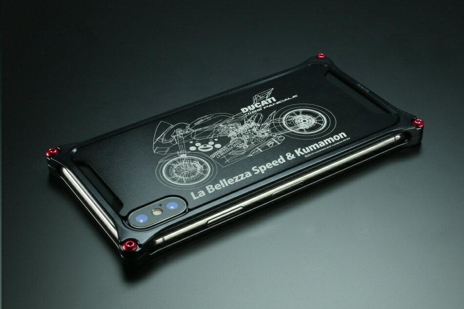 GILD design ギルドデザイン スマートフォンケース くまモン×ラ・ベレッツァ×GILDdesignコラボケース iPhoneX タイプ:バイクモデル [商品コード:GKL-422BIK] iPhoneX