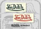 VonDutchボンダッチステッカー・デカールステッカーカラー:ブラック