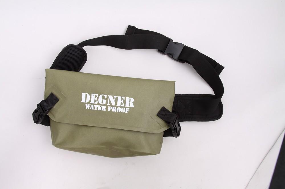 DEGNER デグナー ウエストポーチ・ヒップバッグ 防水ウエストバッグ カラー:カーキ