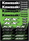 FACTORYEFFEXファクトリーFXステッカー・デカールOEMステッカーシートデザイン:KAWASAKIKX