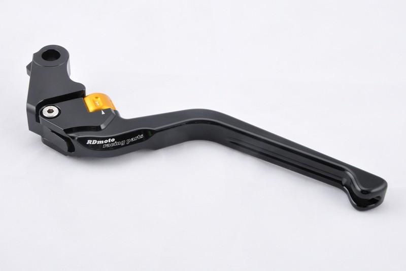 RDmoto アールディーモト アジャスタブルクラッチレバースタンダード(Adjustable clutch lever - STANDARD) アジャストカラー:シルバー レバーカラー:ブラックアルマイト B-KING