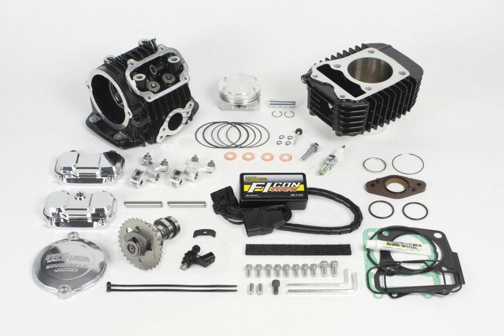 SP武川 SPタケガワ ボアアップキット・シリンダー スーパーヘッド 4V+R コンボキット181cc タイプ:TYPE-X付 モンキー125