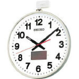 TRUSCO トラスコ中山 工業用品 SEIKO ソーラー屋外用大型電波掛時計 527×450×78 金属枠