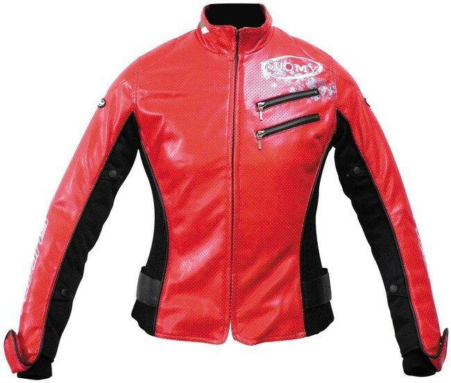SUOMY スオーミー メッシュジャケット カナレットシンセティックレザージャケット サイズ:L