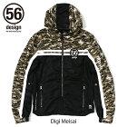 56design56デザインライディングジャケットS-LineHalfMeshParka[Sラインハーフメッシュパーカー]レディース