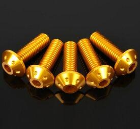 SSK:スピードラ エスエスケー:スピードラ その他外装関連パーツ アルミ削り出しスクリーンボルト ウェルナット 4個セット カラー:ゴールド