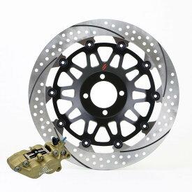 SUNSTAR サンスター ディスクローター ブレンボ40mmピッチ用Φ320大径ディスク ホール&スリットタイプ アウター厚:5.0mm タイプ:右用 フローティングタイプ:フルフローティング フローティングピンカラー:ハードアルマイト