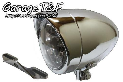 ガレージT&F ヘッドライト本体・ライトリム/ケース 4インチプレーンライト&ライトステーキット タイプB ドラッグスター400 ドラッグスター400クラシック