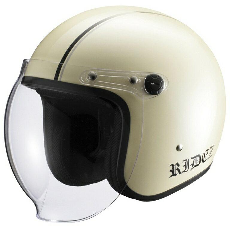 RIDEZ ライズ JB ジェットヘルメット カラー:アイボリー/ブラック/ガンメタ