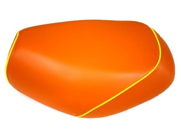 GRONDEMENT グロンドマン その他シートパーツ 国産シートカバー 張替タイプ カラー:オレンジ/黄色パイピング アドレスV125