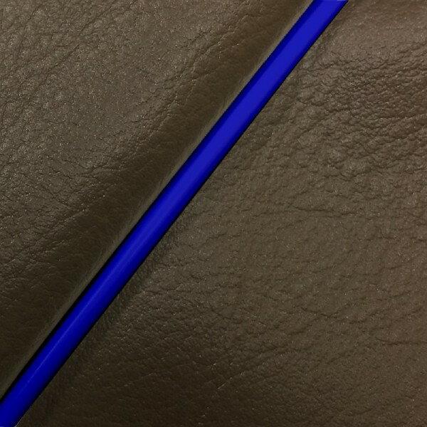 GRONDEMENT グロンドマン その他シートパーツ 国産シートカバー 張替タイプ カラー:ダークブラウン/青パイピング アドレスV125