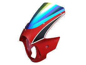 Force-Design フォルスデザイン ビキニカウル・バイザー ビキニカウル エンデュランススクリーン カラー:パールヘロンブルー スクリーンカラー:ミラー CB400SF VTEC III 03-06