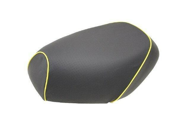 GRONDEMENT グロンドマン その他シートパーツ 国産シートカバー 被せタイプ カラー:エンボス(黒)/黄色パイピング アドレス V125 G (CF46) アドレス V125 G (CF4E)