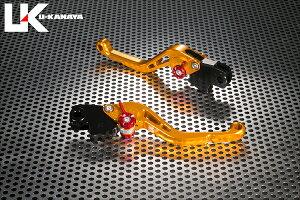U-KANAYA ユーカナヤ スタンダードタイプ アルミビレットレバーセット アジャスターカラー:オレンジ レバーカラー:ゴールド レバータイプ:ショート(レバー部全長:約143mm) R1200R R1200RT