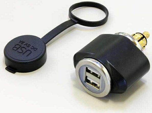 【在庫あり】P&A International パイツマイヤーカンパニー その他電装パーツ USBパワーソケット(ヘラーソケットストレートタイプ) 防水キャップ付