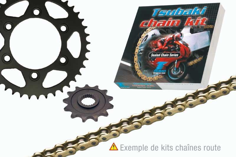 ツバキ チェーン Tsubaki Chain kit KAWASAKI KLR650 (520 types ALPHA ORS)【ヨーロッパ直輸入品】 16 44
