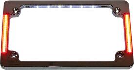CUSTOM ダイナMICS カスタムダイナミックス ナンバープレート関連 ナンバープレートフレーム W/LT クローム 【FRAME LIC PLT W/LT CHR [2030-0899]】