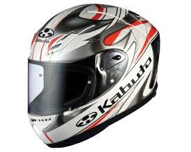 OGK KABUTO オージーケーカブト フルフェイスヘルメット FF-5V VIENTO [エフエフ・ファイブブイ ヴィエント パールホワイト] ヘルメット サイズ:L(59-60cm)