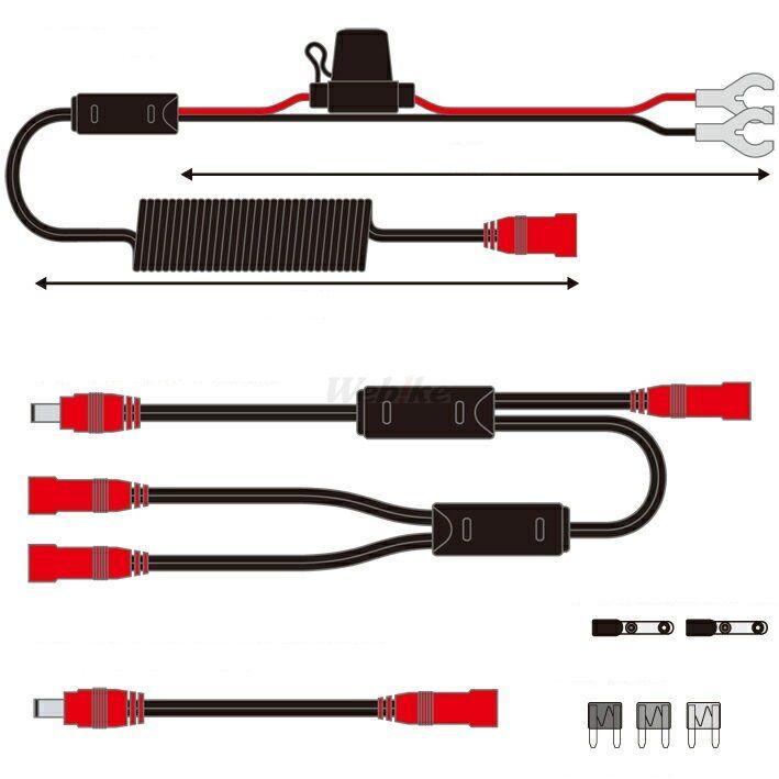 【在庫あり】【イベント開催中!】 RSタイチ RS TAICHI アールエスタイチ 電熱ウェア RSP041 12V 車両接続 ケーブルセット