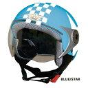 DAMMTRAX ダムトラックス ジェットヘルメット POPO GT ポポ ジーティー(チェック&スター)
