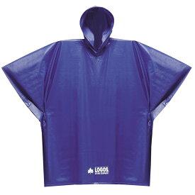 LOGOS ロゴス レインウェア PVCポンチョジュニア カラー:ブルー