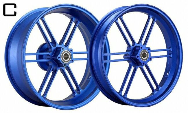 WUKAWA ウカワ ホイール本体 アルミニウム鍛造ホイール Type-C カラー:Blue VTR1000SP 00-06