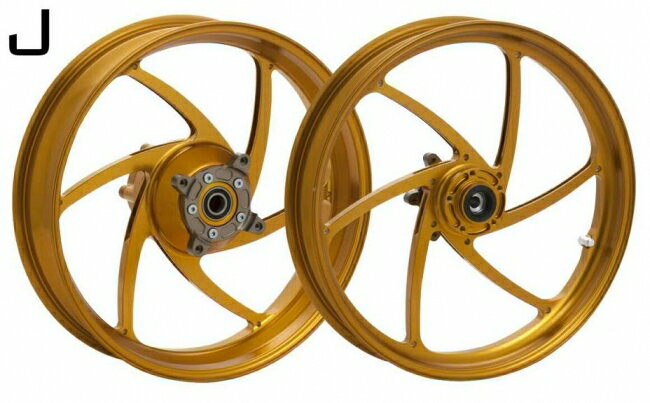 WUKAWA ウカワ ホイール本体 アルミニウム鍛造ホイール Type-J カラー:Cinnamon VTR1000SP 00-06