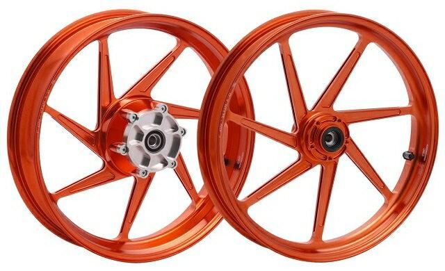 WUKAWA ウカワ ホイール本体 アルミニウム鍛造ホイール Type-S カラー:Red VTR1000SP 00-06