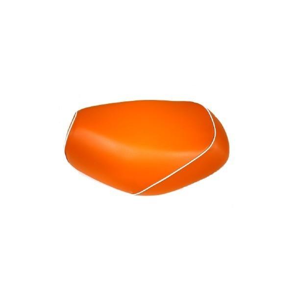 GRONDEMENT グロンドマン その他シートパーツ 国産シートカバー 被せタイプ カラー:オレンジ/白パイピング アドレス V125 G (CF46) アドレス V125 G (CF4E)