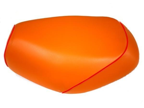GRONDEMENT グロンドマン その他シートパーツ 国産シートカバー 被せタイプ カラー:オレンジ/赤パイピング アドレス V125 G (CF46) アドレス V125 G (CF4E)