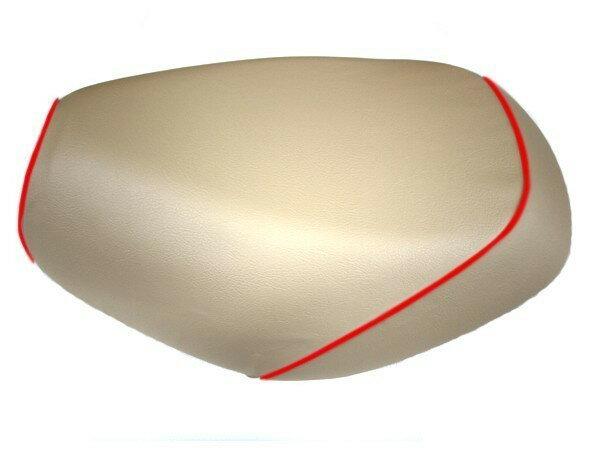 GRONDEMENT グロンドマン その他シートパーツ 国産シートカバー 被せタイプ カラー:ベージュ/赤パイピング アドレス V125 G (CF46) アドレス V125 G (CF4E)