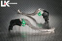 【セール特価!】U-KANAYA ツーリングタイプ アルミビレットレバーセット アジャスターカラー:ブラック レバーカラー:チタンカラー Z1000 07-:N...