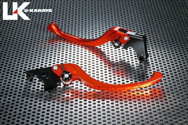 U-KANAYA ユーカナヤ ツーリングタイプ アルミビレットレバーセット アジャスターカラー:チタンカラー レバーカラー:オレンジ FZ8:FAZER8