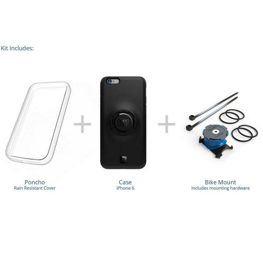 【在庫あり】Quad Lock クアッドロック 各種電子機器マウント・オプション 自転車バイクキット 【iPhone 6/6S用】