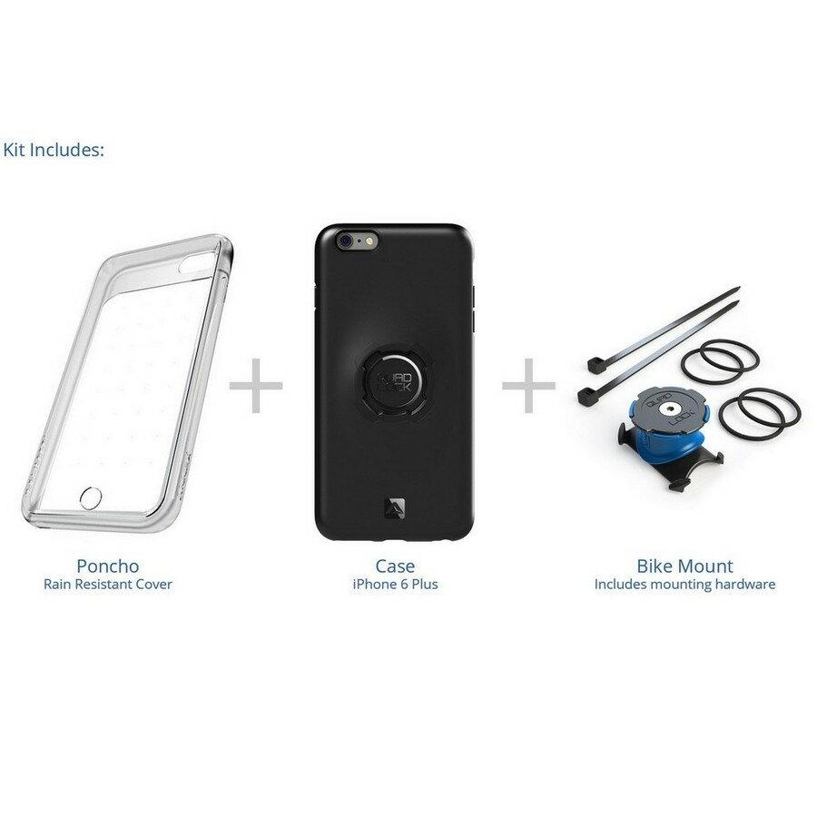 【在庫あり】Quad Lock クアッドロック 各種電子機器マウント・オプション 自転車バイクキット 【iPhone 6 PLUS/6S PLUS用】