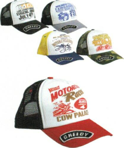 GREEDY グリーディー 帽子 メッシュキャップ カラー:レッド