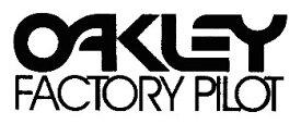 【在庫あり】ホーリーエクイップ HollyEquip ステッカー・デカール Oakley Factory Pilotデカール カラー:ブラック