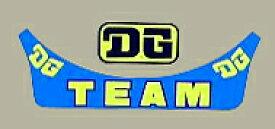 ホーリーエクイップ HollyEquip ステッカー・デカール DG Team バイザーデカール
