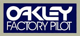 ホーリーエクイップ HollyEquip ステッカー・デカール Oakley Factory Pilotデカール カラー:ブルー