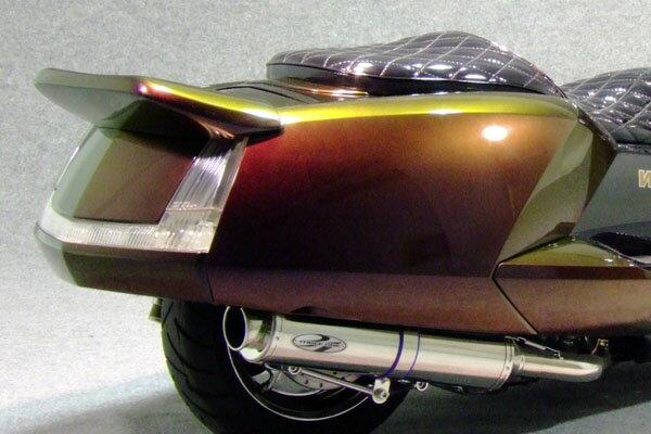 WARRIORZ ウォーリアーズ スクーター外装 マグザム用 リアスポイラー V1(バージョンワン) カラー:シルバー3 MAXAM [マグザム] (SG17J/SG21J)