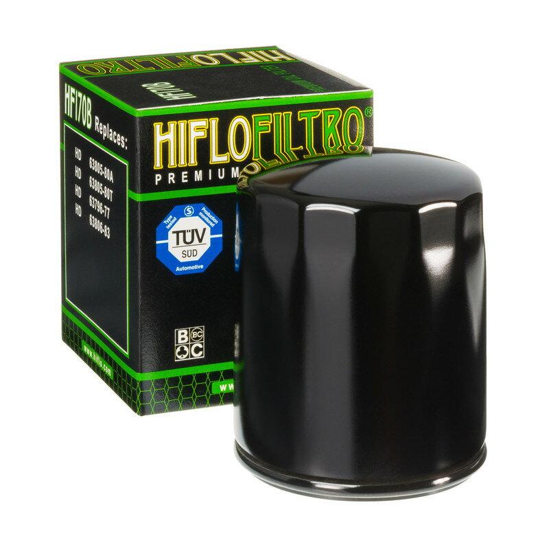 HIFLOFILTRO ハイフローフィルトロ オイルフィルター Oil Filter HF170B Black Harley Davidson【ヨーロッパ直輸入品】