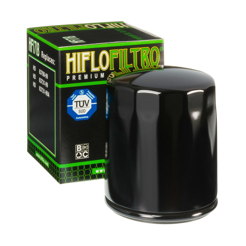 HIFLOFILTRO ハイフローフィルトロ オイルフィルター Oil Filter Black HF171B【ヨーロッパ直輸入品】