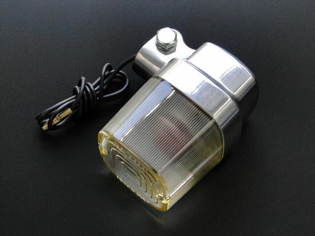 BRC ビーアールシー JMCタイプ角型ヨーロピアンウインカー レンズカラー:黄ばみレンズ 汎用12Vオートバイ用