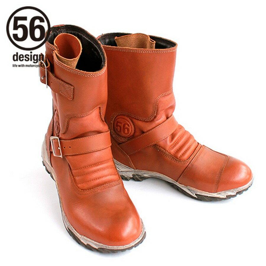56design 56デザイン オンロードブーツ Leather Riding Boots [レザー ライディング ブーツ] サイズ:S(25.5-26.0cm)