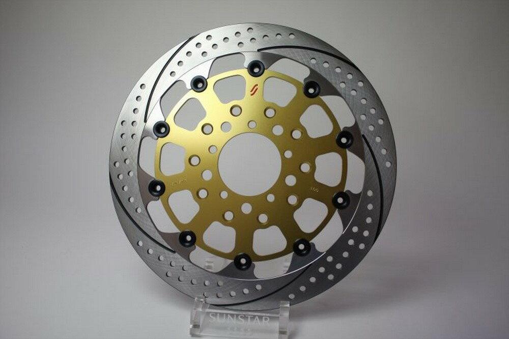 SUNSTAR サンスター PREMIUM RACING [プレミアムレーシング] フロントディスクローター アウターローター:ホールタイプ フローティングピンカラー:グリーン SCRAMBLER Sixty2 400cc 16