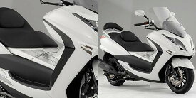 【イベント開催中!】 YAMAHA ヤマハ ワイズギア スクーター外装 カーボンルックサイドバイザー 4D9 マジェスティ250(SG20J)